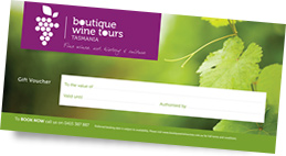 Boutique Wine Tours Tasmania gift voucher